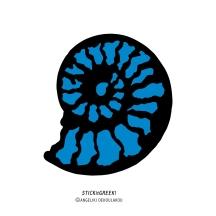 """STICKitGREEK_02"" Modern design of a nautilus inspired by the Greek seas, made by Angeliki Dekoulakou / Μοντέρνο σχέδιο ναυτίλου εμπνευσμένο από τις ελληνικές θάλασσες, της Αγγελικής Δεκουλάκου."