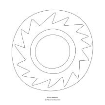 """STICKitGREEK_14"" Modern design of the sun, made by Elias Dekoulakos / Μοντέρνο σχέδιο με έναν ήλιο, του Ηλία Δεκουλάκου."