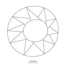 """STICKitGREEK_17"" Modern design of the sun, made by Elias Dekoulakos / Μοντέρνο σχέδιο με έναν ήλιο, του Ηλία Δεκουλάκου."
