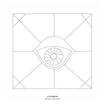 """STICKitGREEK_16"" Modern design of an eye that protects from the evil, made by Elias Dekoulakos / Μοντέρνο σχέδιο με ένα μάτι που προστατεύει από το κακό, του Ηλία Δεκουλάκου."