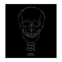 """STICKitGREEK_25"" Modern design of a skull, made by Angeliki Dekoulakou / Μοντέρνο σχέδιο νεκροκεφαλής, της Αγγελικής Δεκουλάκου."