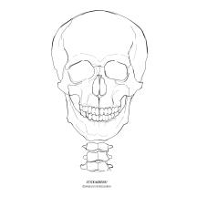"""STICKitGREEK_24"" Modern design of a skull, made by Angeliki Dekoulakou / Μοντέρνο σχέδιο νεκροκεφαλής, της Αγγελικής Δεκουλάκου."